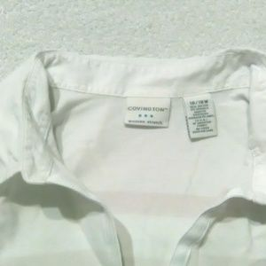 Ladies Pink/White Stripe Covington Blouse Size 16